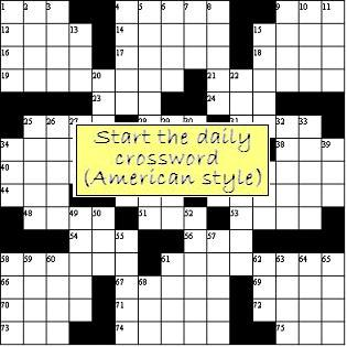 WordLords Daily crossword puzzle (American style)